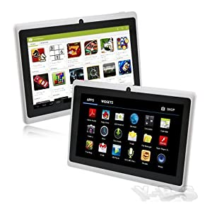 7 Inch E-Passion Android 4.4 kitkat Rooted PC Tablet - Overpower Touch Screen - HDMI Output 1080P - Micro USB Port - Slim Style All Purpose,Great for Kids & Adult - Fa & Back Camera - Wifi for Internet - DualCore - Google Play Installed