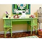 Arrow Cabinet 1014 Florie Wicker Sewing Cabinet, Green
