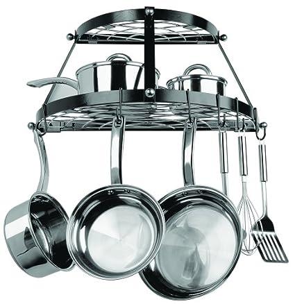 decorative wall mounted pot rack for kitchen. Black Bedroom Furniture Sets. Home Design Ideas