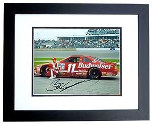Bill Elliott Autographed Hand Signed Nascar 8x10 Photo - BLACK CUSTOM FRAME by Real Deal Memorabilia