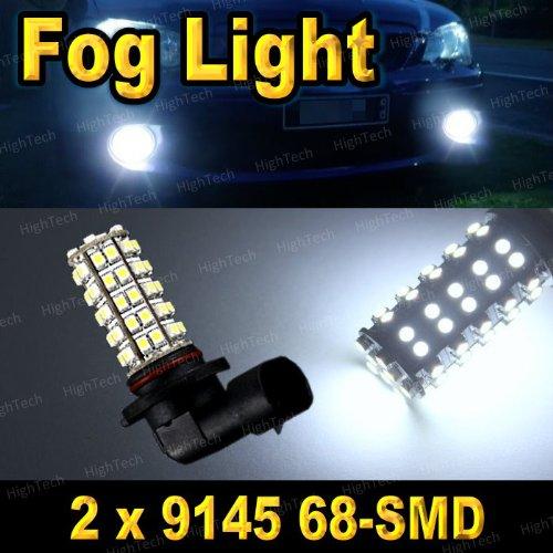 Pair Super White 9145 68-Smd Led Headlight Bulbs For Driving Fog Light / Day Time Running Light Drl ( Cross Reference : H10 / 9040 / 9045 / 9055 / 9140 )