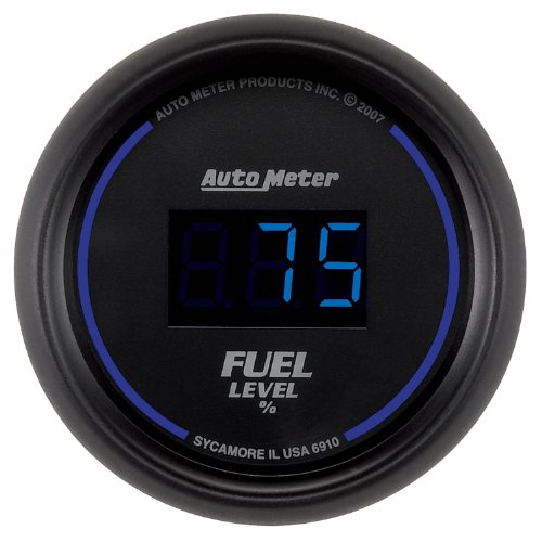 "Auto Meter 6910 Cobalt Digital 2-1/16"" 0-280 Ohm Digital Fuel Level Programmable Empty - Full Range With Preset"