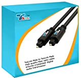 0.5 Meter Toslink Pure Optical Cable Lead, Immune to electrical interference , This Toslink audio cable connects sources such as Sky Boxes, PS2,PS3, XBox, CD players, DVD players, satellite dish receivers and cable boxes toyour AV receiver or television,