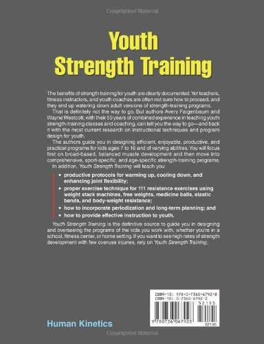 the importance of strength training of prepubescent youth •strength training should be stopped at any sign of injury and the child should be evaluated prior to re-entering the strength program •never force a child to participate in a resistance-training program.