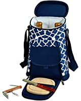 Picnic at Ascot Trellis Blue Wine & Cheese Cooler, Blue