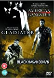American Gangster/Gladiator/Black Hawk Down (Steelbook) [DVD]