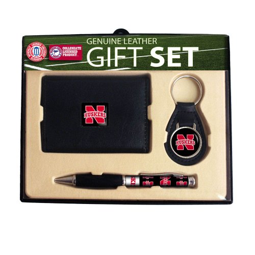 University of Nebraska Trifold Wallet, Key Chain & Pen Gift Set