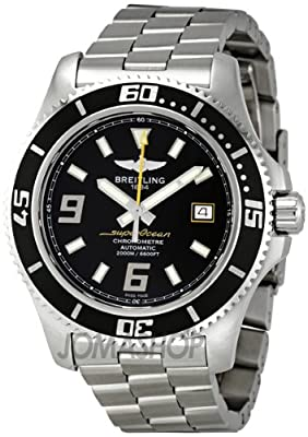 Breitling Men's A1739102/BA78 Superocean Black Dial Watch