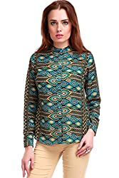 Green Ikat Print Shirt