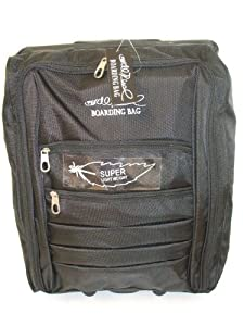 Black Borderline 2 Wheeled Super Lightweight Hand Luggage Holdall Cabin Suitcase Boarding Bag by Borderline
