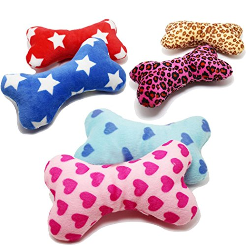 Legendog-Dog-Toys-Cute-Plush-Bone-Squeaky-Toys-for-Puppy-Random-Color