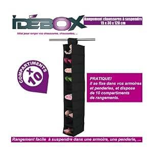 Idebox glo6164 rangement chaussures suspendu - Rangement chaussures amazon ...