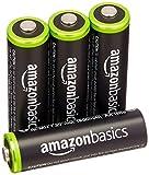 AmazonBasics Vorgeladene Ni-MH AA-Akkus - Akkubatterien (1.000 Zyklen, typisch 2000mAh, minimal 1900mAh) 4 Stck (Design kann von Darstellung abweichen