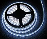 SUPERNIGHT (TM) 16.4ft 5M SMD 5050 Cool White Waterproof Led Flexible Flash Cold white Strip 300 Leds LED Light Strip 60Leds/M Multifunctional