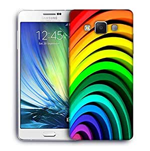 Snoogg Multiple Colors Strips Printed Protective Phone Back Case Cover For Samsung Galaxy A7