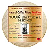 P&F(12 pack)Natural Reusable Coffee Filters for Aeropress Coffee Maker-FULL TASTE-NO HARMFUL CHEMICAL IN YOUR COFFEE ANYMORE - 100% Natural Coffee Filters