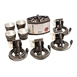 Norman D12-4 Kit, 1200ws Four Light Kit with D12 Power Supply, Four IL2500 Lamp Heads, Four 5DL Reflectors