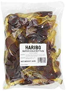 Haribo Gummy Candy, Super Cola Bottles, 5--Pound Bag