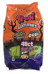 Trolli Gummies Candy Mix - Sour Brite Crawlers Minis and Sour Brite Eggs (48 Pouches)