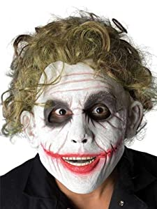 Batman The Dark Knight Adult The Joker Foam Latex Mask With Hair at Gotham City Store