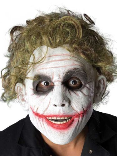 Batman The Dark Knight The Joker Foam Latex Mask With Hair