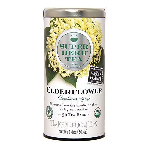 The Republic Of Tea Elderflower Superherb Tea, 36 Tea Bags