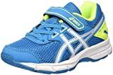 Asics Unisex-Kinder Pre Galaxy 9 Ps Laufschuhe, Mehrfarbig (Blue Jewel/White/Safety Yellow), 33.5 EU