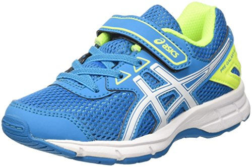 Asics Pre Galaxy 9 Ps, Scarpe da Ginnastica Unisex Bambini, Blu (Blue Jewel/White/Safety Yellow), 35 EU