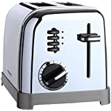 Cuisinart CPT-160CB2T Metal Classic 2-Slice Toaster, Black and Brushed Chrome