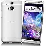 FoneM8® - 2014 HTC One M8 100% Clear Gel Case Skin TPU Cover - Includes Screen Protector and Microfibre Cloth