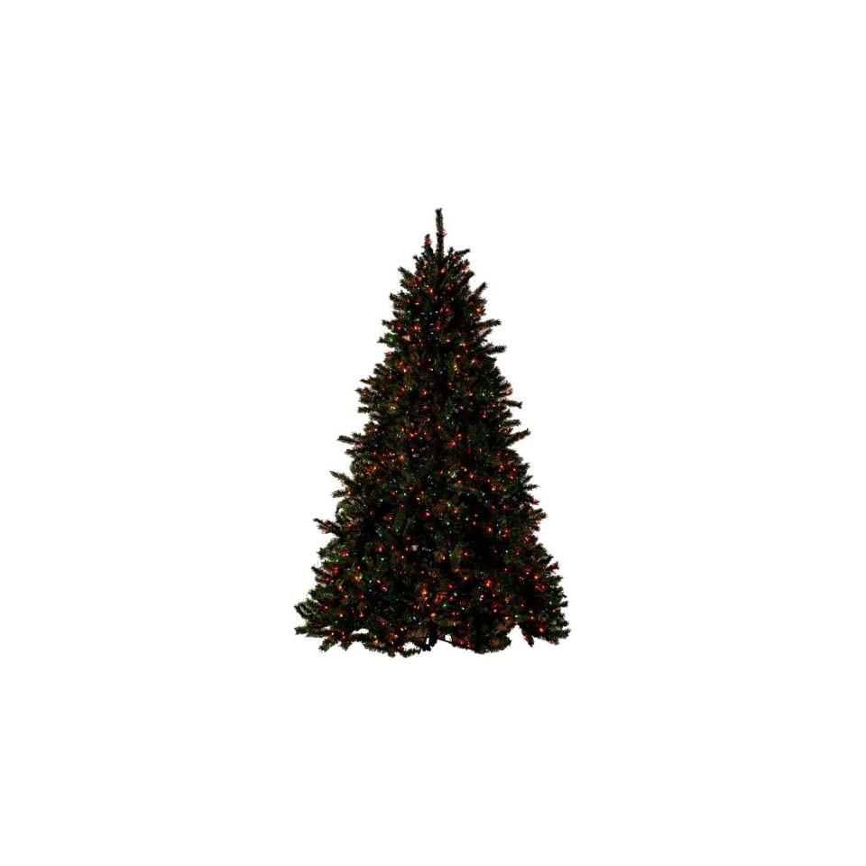 PRE LIT SUPER BRIGHT CHRISTMAS TREE   9 TALL   MULTI COLOR LIGHTS