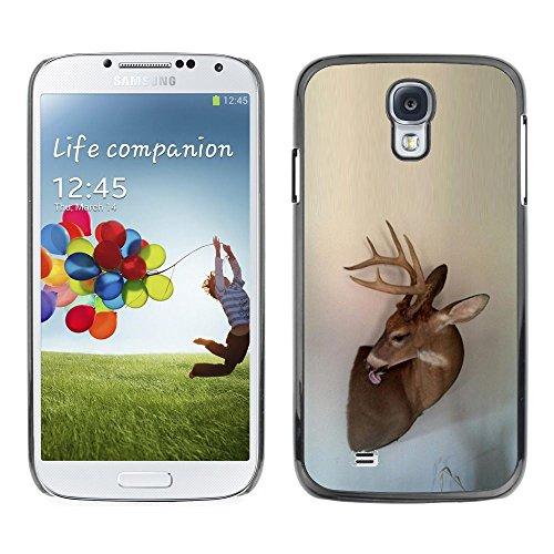 Antlers Beige Natura Primavera animale - Aluminum Metal & plastica dura Phone caso - nero - Samsung Galaxy S4
