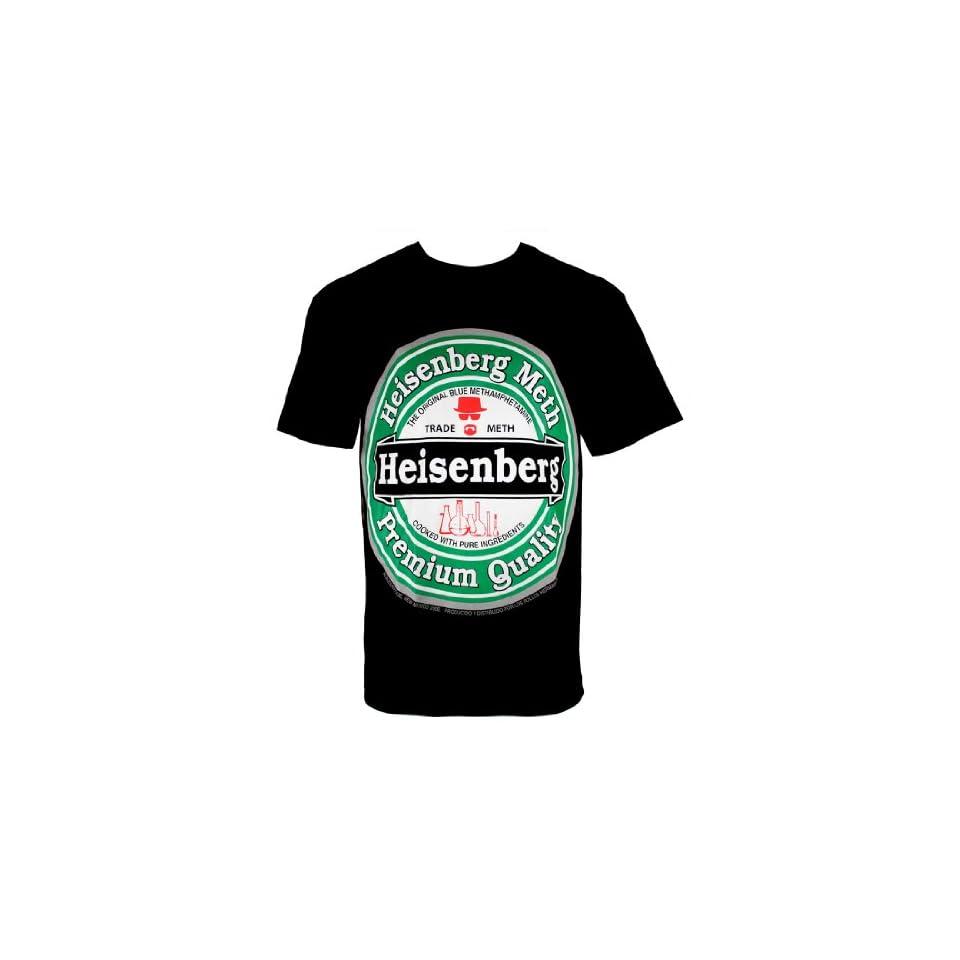 Breaking Bad Heisenberg Meth Heineken Parody Black Mens T shirt (4XL) at  Men's Clothing store Fashion T Shirts