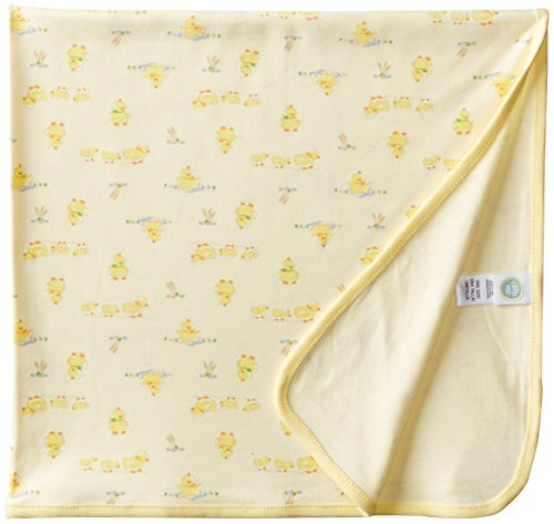Little Me Unisex-Baby Newborn Duck Print Tag Along Blanket, Yellow, One Size