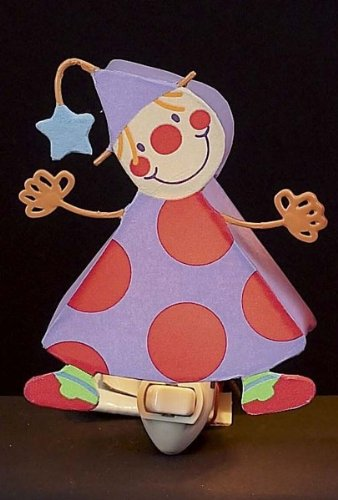 Children's Quality Designed Multi Clown Bedroom Night Light - 1