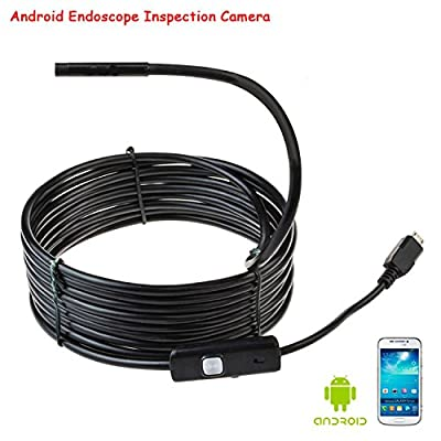 Cost-Effective 16.4Ft Long Android Smartphone Usb Endoscope Inspection Camera 5.5Mm Diameter Ultra Slim 6 Leds Hd Ip67 Waterproof Snake Borescope Mini Usb Inspection Camera