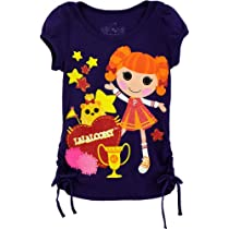 "Lalaloopsy ""Lala Cheer Girl"" Purple Girls T-Shirt (5)"