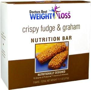 Crisp'n Crunch Fudge Gram Diet Bar from Doctors Best Weight Loss