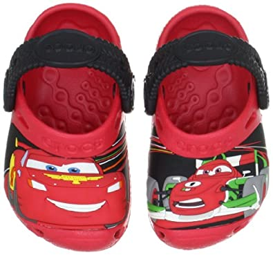 Crocs Cars 2 Custom Clog (Toddler/Little Kid),Red/Black,4-5 M US Toddler