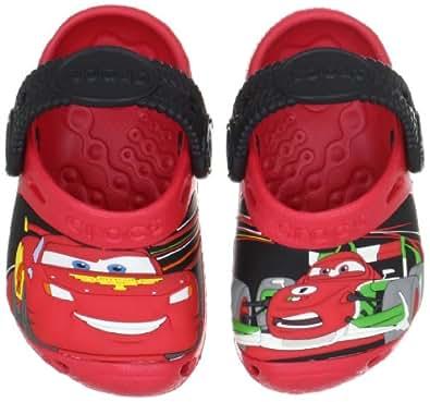 Crocs Cars 2 Custom Clog (Toddler/Little Kid),Red/Black,4-5 M US Toddler