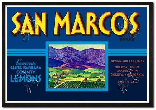 San Marcos Brand Lemons Poster