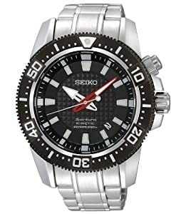 Seiko Men&#39;s SKA511 Stainless Steel Analog with Black Dial Watch