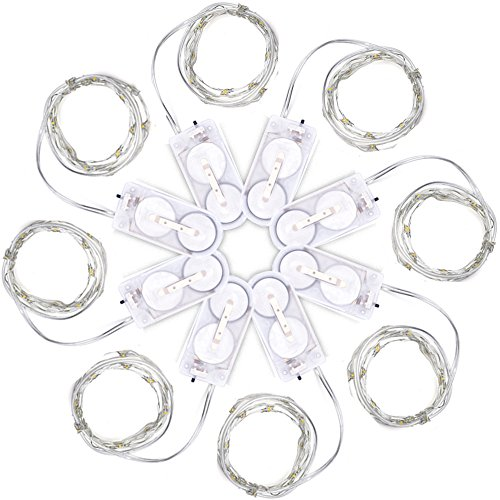 mudder-micro-20-leds-warm-white-lights-35-feet-silver-ultra-thin-string-wire-for-decration-8-pack