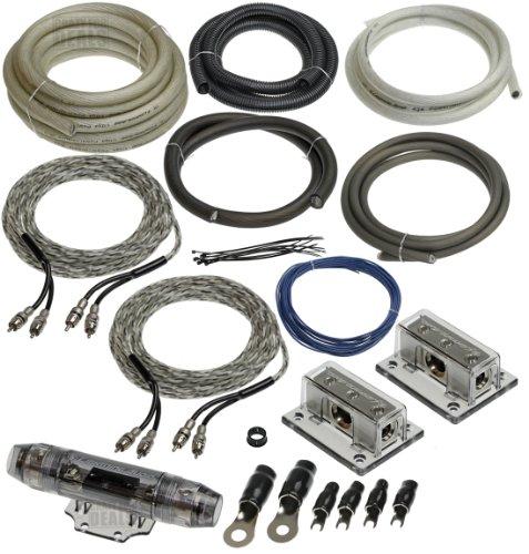 Lightning Audio by Rockford Fosgate Dual 1/0 Gauge Ga Awg Amplifier Installation Wiring Amp Kit