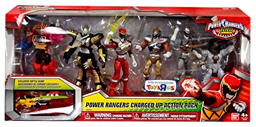 Power Rangers Dino Charged Up Action Pack 5 Inch Figures - 6 Pack