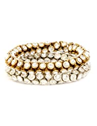 Monisha Daga Kundan Bracelet Gold & Silver Bracelet BT6-MT For Women