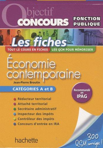 Economie contemporaine : Catégorie A et B