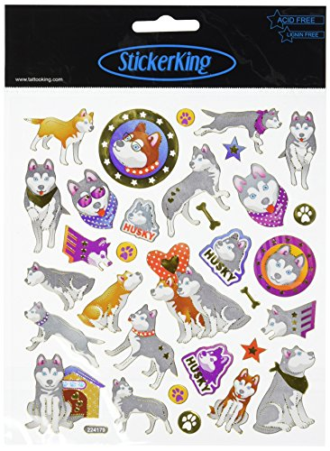 Multi-Colored Stickers-Huskies