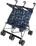 AmorosO Twin Baby Stroller, Blue