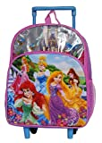 Disney Princess Toddler Rolling Wheeled 12 Inch Backpack for 2-5 Years Old
